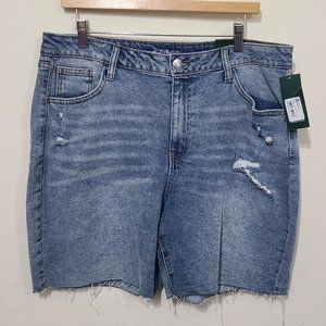 Wild Fable High Rise Light Plus Size Jean Shorts